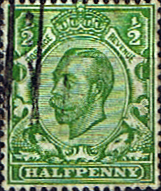 GB Stamps Great Britain 1911 King George V Head SG 339 Fine Used Scott 153
