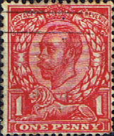 British Stamps Great Britain 1911 King George V Head SG 342 Fine Used Scott 154