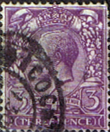 GB Stamps Great Britain 1912 King George V Head SG 374 Fine Used Scott 164