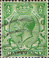 Postage Stamps Great Britain 1924 King George V Head SG 418 Fine Used Scott 187