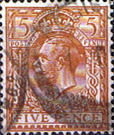 British Stamps Great Britain 1924 King George V Head SG 425 Fine Used Scott 194