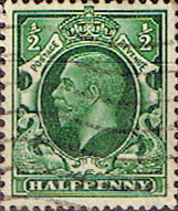 British Stamps Stamp Great Britain 1934 King George V Head SG 439 Fine Used Scott 210