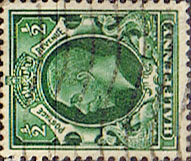 British Stamps Stamp Great Britain 1934 King George V Head SG 439a Fine Used Scott 210a Watermark Sideways