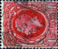 Postage Stamps Stamp Great Britain 1934 King George V Head SG 440c Fine Used Scott 211a