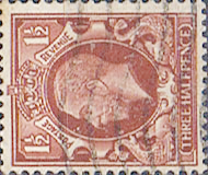 British Stamps Stamp Great Britain 1934 King George V Head SG 441d Fine Used Scott 212b Watermark Sideway