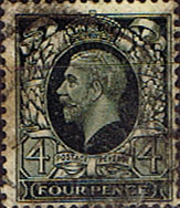 British Stamps Stamp Great Britain 1934 King George V Head SG 445 Fine Used Scott 216