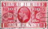 Great Britain 1935 King George V Silver Jubilee SG 454 Fine Used