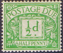 Stamps of Great Britain 1924 Post Due SG D 24a Mint Scott J 23a