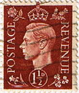 Great Britain 1937 King George VI Head SG 464 Fine Used