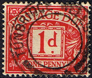 Stamps Great Britain 1937 Post Due SG D 29 Fine Used Scott J 20
