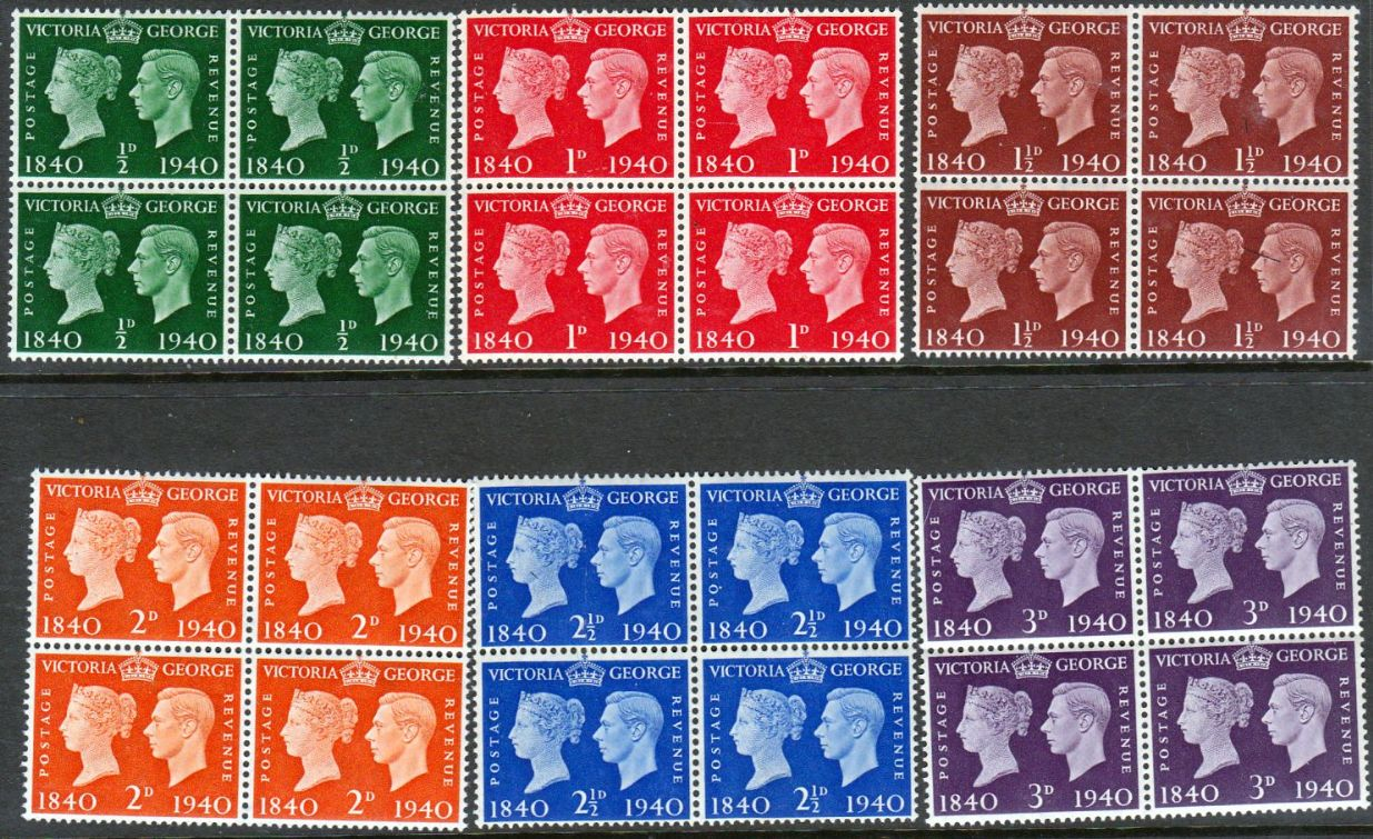 Great Britain 1940 Centenary Of First Adhesive Postage