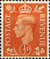 GB Stamps Great Britain 1950 King George VI Head SG 503 Fine Mint Scott 280