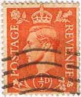 GB Stamps Great Britain 1950 King George VI Head SG 503 Fine Used