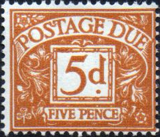 Stamps of Great Britain 1959 Post Due SG D 57 Fine Used Scott J 56