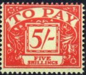 Stamps of Great Britain 1959 Post Due SG D 66 Fine Used Scott J 65
