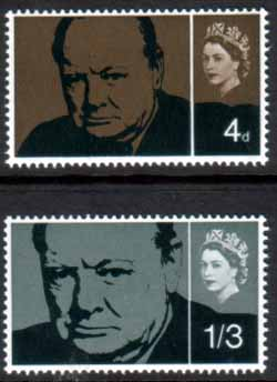 GB Postage Stamps Great Britain 1966 Churchill Set Fine Mint