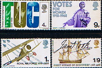 GB Stamps Great Britain 1968 British Anniversaries and Events Set Fine