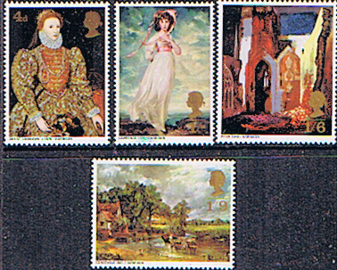 GB Stamps Great Britain 1968 British Paintings Set Fine Mint