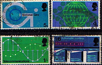 Postage stamp stamps post office technology set fine used - Great britain post office ...