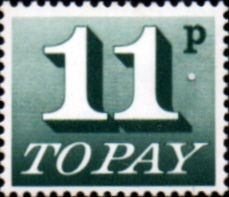 Stamp Stamps Dues Great Britain 1970 Post Due SG D 84 Fine Mint Scott J 86