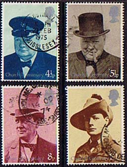 Great Britain 1974 Churchill Stamps