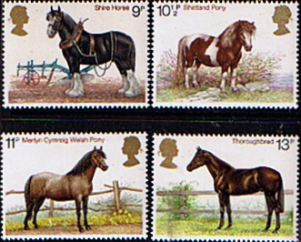 Postage Stamp Stamps Great Britain 1978 Horses Set Fine Mint