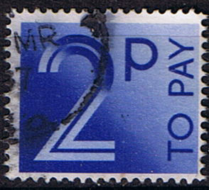 Stamps of Great Britain 1982 Post Due SG D 91 Fine Used Scott J 93