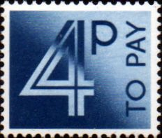 Stamps of Great Britain 1982 Post Due SG D 93 Fine Used Scott J 95