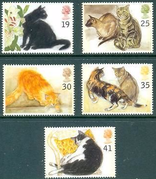 Stamps of Great Britain 1987 Studio Pottery Set Fine Mint GB