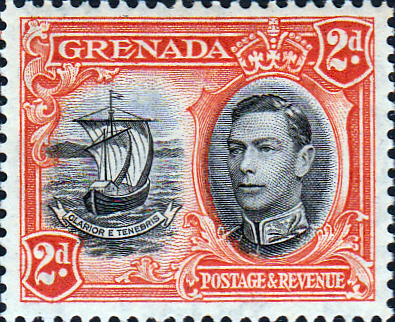 Stamps Stamp Grenada 1938 King George VI SG 156 Fine Mint Scott 135
