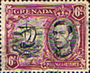 Stamp Postage Stamps Grenada 1938 King George VI SG 159 Fine Mint Scott 138