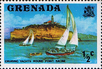 Postage Stamps Stamp Grenada 1975 SG 649 Yachts Cruising Fine Mint Scott 583