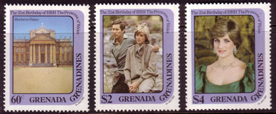 Stamps 1982 Grenada Greanadines Royal Baby Prince William Fine Mint