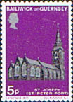 Postage Stamps Stamp Guernsey 1971 Christmas Churches Fine Mint SG 65 Scott 62