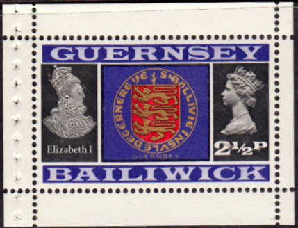 Postage Stamps Stamp Guernsey 1971 Decimal Currency SG 48 Queen Elizabeth 1 and Coat of Arms Fine Mint