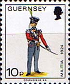 Guernsey 1974 Military Uniforms SG 110 Field Officer 4th West Regiment Fine Mint