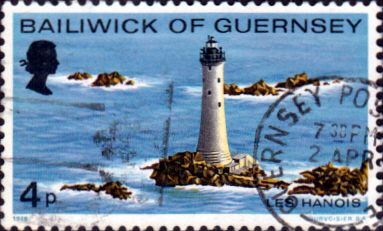 Postage Stamps Guernsey 1976 Lighthouses Set Fine Mint