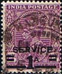 India 1937 King George VI Service SG O142 Surcharged Fine Used