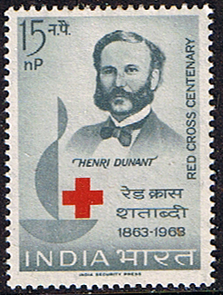 Post Stamps India 1963 Red Cross Centenary Fine Mint SG 467 Scott 373