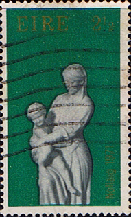 Stamp Decimal Postage Stamps of Eire Ireland 1971 Christmas Fine Mint SG 309 Scott 312