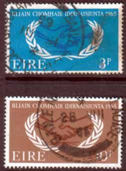 Postage Stamps Ireland Eire 1965 International Co-operation Year Set Fine Mint