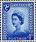 Postage Stamps Isle of Man 1958 Queen Elizabeth SG 3p Fine Mint