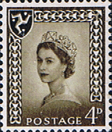 Stamp Postage Stamps Isle of Man 1958 Queen Elizabeth SG 5 Fine Mint Scot