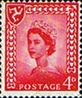 Postage Stamps Isle of Man 1958 Queen Elizabeth SG 6 Fine Mint