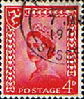 Postage Stamps Isle of Man 1958 Queen Elizabeth SG 6 Fine Used