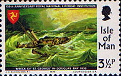 Stamp Postage Stamps Isle of Man 1974 Royal National Lifeboat Institution Fine Mint SG 43 Scott 37