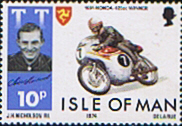 Isle of Man 1974 Tourist Trophy Motorcycle Racing SG 49 Fine Mint