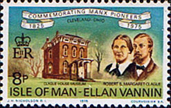 Stamp Postage Stamps Isle of Man 1975 Manx Pioneers in Cleveland Set Fine Mint SG 61 Scott 64