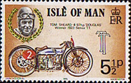 Stamp Postage Stamps Isle of Man 1975 Tourist Trophy Motor-cycle Races Set Fine Mint SG 63 Scott 66