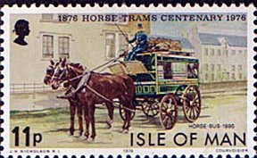Postage Stamps Isle of Man 1976 Douglas Horse Trams Centenary Set Fine Mint SG 80 83 Scott 82 85